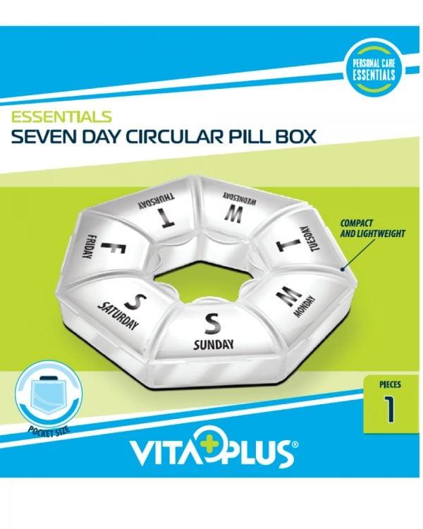 Organizator medicamente saptamanal circular