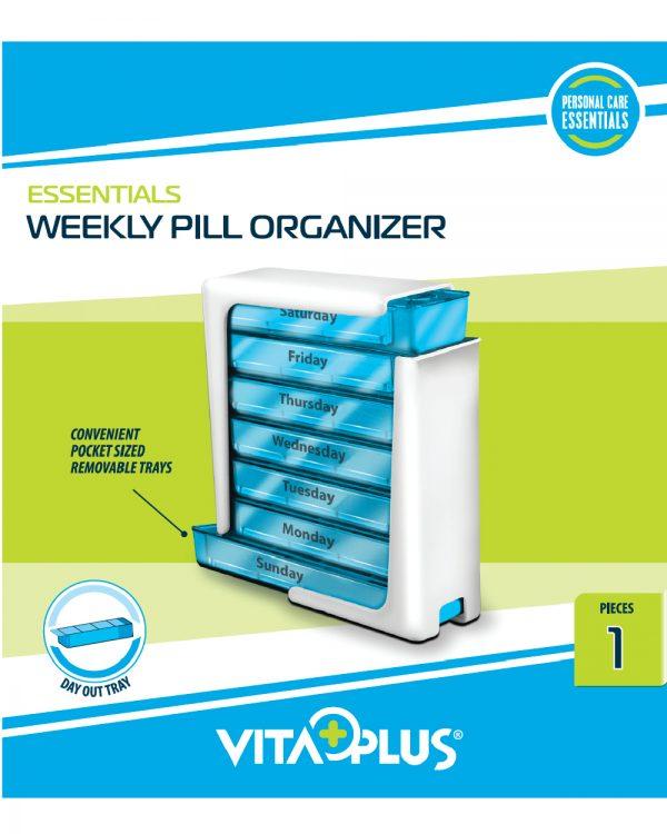 Organizator saptamanal medicamente cu 7 sertare