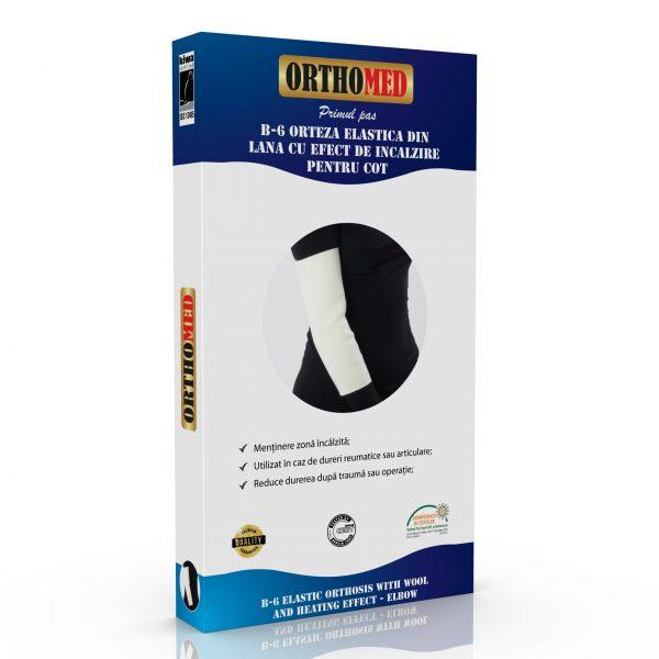 Orteza pentru cot elastica din lana cu efect de incalzire Orthomed