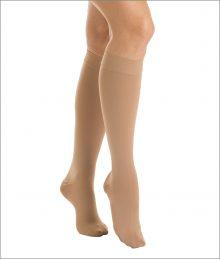 Ciorapi pana la genunchi cu varf inchis (15-21 mmHG), bej