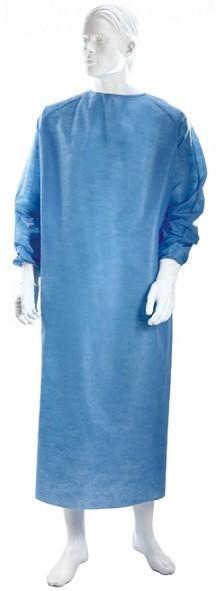 Halat chirurgical steril albastru