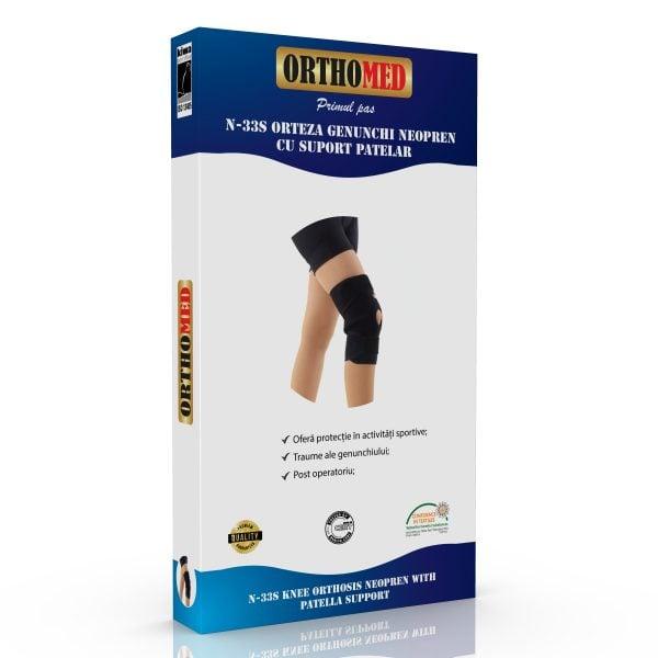 Orteza genunchi din neopren cu suport patelar Orthomed
