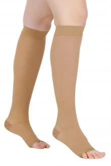 Ciorapi compresivi medicali pana la genunchi VARILEGS (22-27 MmHg), bej
