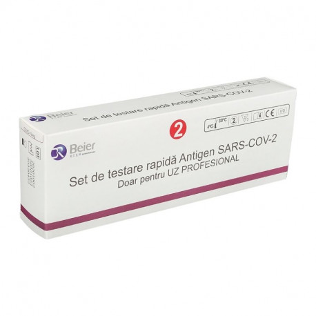 Test rapid antigen nazofaringian COVID 19 Beier x 2 teste/cutie