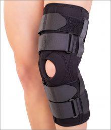 Orteza mobila de genunchi cu suport patelar