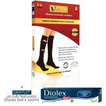 Ciorapi compresivi pana la genunchi, grad 1, de culoare neagra