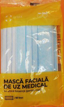 Masca faciala de uz medical pentru copii, culoare: albastru