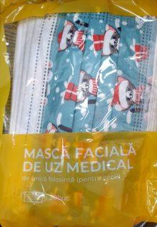 Masca faciala de uz medical pentru copii, culoare: verde