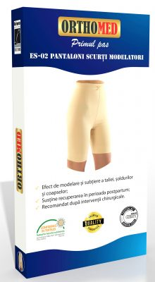 Pantaloni scurti modelatori cu burtiera