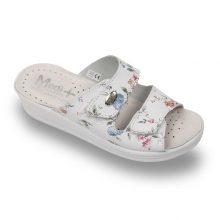 Papuci medicali din piele, cu model floral